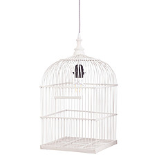 Achat Suspension  décorative Suspension Cage à Oiseaux - Blanc