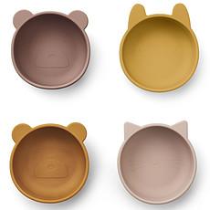 Achat Vaisselle & Couvert Lot de 4 Bols en Silicone Iggy - Rose Mix