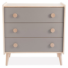 Achat Commode Commode en Bois Massif - Taupe
