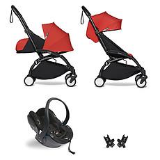 Achat Poussette combinée Poussette Duo YOYO² Complète Châssis Noir 0+ et 6+ et Siège Auto iZi Go Modular i-Size Groupe 0+ Gris - Rouge