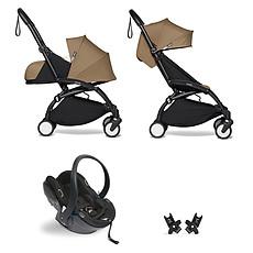 Achat Poussette combinée Poussette Duo YOYO² Complète Châssis Noir 0+ et 6+ et Siège Auto iZi Go Modular i-Size Groupe 0+ Noir - Toffee