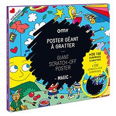Achat Livre & Carte Poster Géant à Gratter - Magic