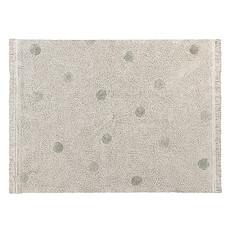 Achat Tapis Tapis Lavable Hippy Dots Naturel et Olive - 120 x 160 cm
