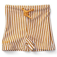 Achat Vêtement layette Short de Bain Otto - Rayé Moutarde et Blanc