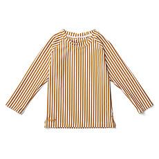 Achat Accessoires Bébé Tee-Shirt Noah Rayé Moutarde et Blanc - 3/9 Mois