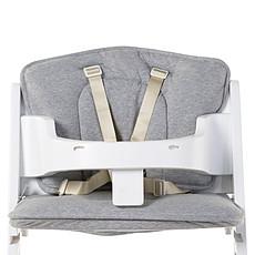 Achat Chaise haute Coussin de Chaise Haute Kitgrow Jersey - Gris Chiné