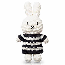 Achat Peluche Miffy Rayures Noires et Blanches