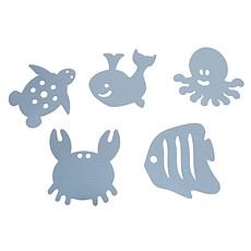 Achat Baignoire Lot de 10 Stickers Antidérapants Thermosensibles - Bleu