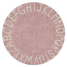 Achat Tapis Tapis Lavable ABC Rose et Blanc - Ø 150 cm