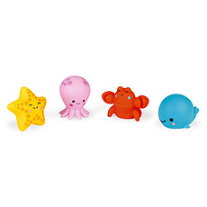 Achat Mes premiers jouets Lot de 4 Gicleurs de Bain - Les Animaux de la Mer