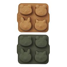 Achat Vaisselle & Couvert Lot de 2 Mini Moules à Gâteau Mariam - Hunter Green & Mustard