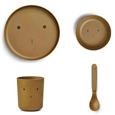 Achat Coffret repas Set de Vaisselle 4 Pièces - Rabbit Olive Green