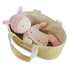 Achat Mes premiers jouets Poupon Blanc et Rose avec Couffin
