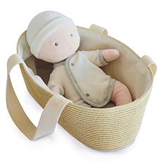 Achat Mes premiers jouets Poupon Blanc et Gris avec Couffin