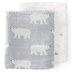 Achat Textile Lot de 2 Langes - Ours Polaire