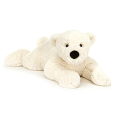 Achat Peluche Perry Polar Bear Lying - Huge