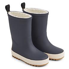 Achat Chaussons & Chaussures Bottes de Pluie Mason Navy et Crème de la Crème - 24