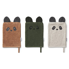 Achat Gant de toilette Lot de 3 Gants de Toilette Sylvester - Panda Mix