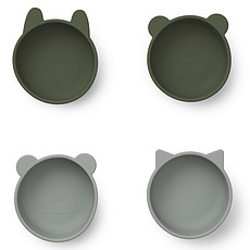 Achat Vaisselle & Couvert Lot de 4 Bols en Silicone Iggy - Hunter Green Mix
