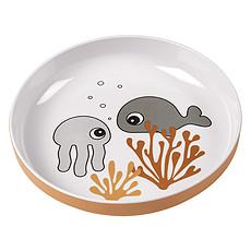Achat Vaisselle & Couvert Mini Assiette - Sea Friends Moutarde et Gris
