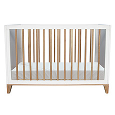 Achat Lit bébé Lit Bébé Evolutif en Rotin Nami Neige - 60 x 120 cm