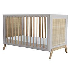 Achat Lit bébé Lit Bébé Convertible en Rotin Marelia Lune - 60 x 120 cm