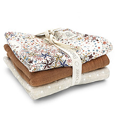 Achat Gant de toilette Lot de 3 Débarbouillettes - Liberty London Adeladja