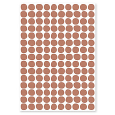 Achat Sticker Planche de Stickers - Pois Terracotta