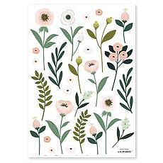 Achat Sticker Planche de Stickers - Fleurs et Feuillages