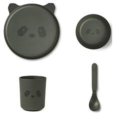 Achat Coffret repas Set de Vaisselle 4 Pièces - Panda Hunter Green