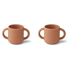 Achat Tasse & Verre Lot de 2 Tasses Gene Cat Tuscany Rose - 160 ml