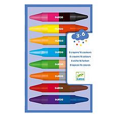 Achat Livre & Carte Lot de 8 Crayons Doubles Côtés