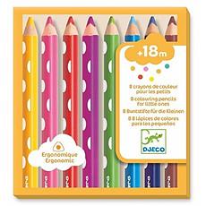 Achat Livre & Carte Lot de 8 Crayons de Couleurs pour les Petits