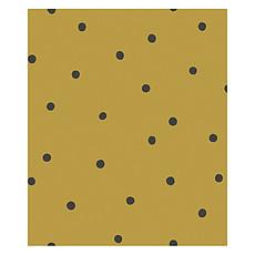 Achat Papier peint Papier Peint Minima - Moutarde et Pois Noirs