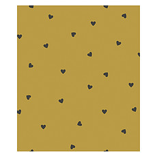 Achat Papier peint Papier Peint Minima - Moutarde et Coeurs Noirs