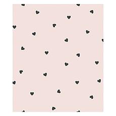 Achat Papier peint Papier Peint Minima - Rose et Coeurs Noirs