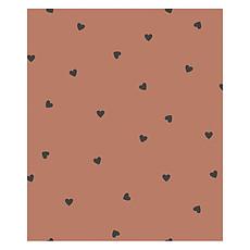 Achat Papier peint Papier Peint Minima - Terracotta et Coeurs Noirs