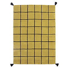 Achat Tapis Tapis Quadrillage Moutarde - 120 x 170 cm