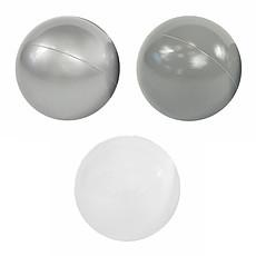 Achat Mes premiers jouets Lot de 200 Balles - Silver, Grey & White