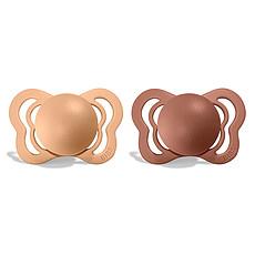 Achat Sucette Lot de 2 Tétines Couture - Peach & Woodchuck
