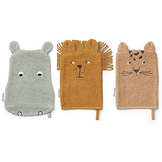 Achat Gant de toilette Lot de 3 Gants de Toilette Sylvester - Safari Mix