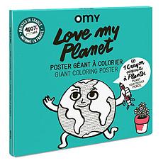 Achat Livre & Carte Poster à Colorier - Love My Planet