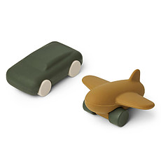 Achat Mes premiers jouets Voiture et Avion Kevin - Hunter Green & Olive Green Mix