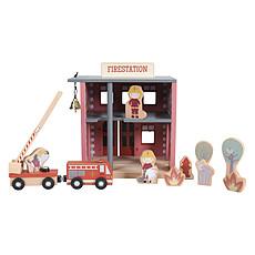 Achat Mes premiers jouets Extension Caserne de Pompier Circuit Train en Bois