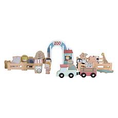 Achat Mes premiers jouets Extension Zoo Circuit Train en Bois