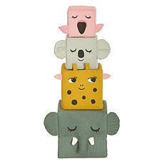 Achat Mes premiers jouets Cubes en Tissu Les Animaux de la Jungle
