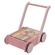 Achat Mes premiers jouets Chariot à Blocs Flowers - Rose
