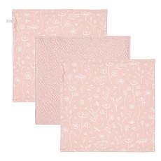 Achat Gant de toilette Lot de 3 Débarbouillettes Wild Flowers & Pure - Pink
