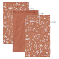 Achat Gant de toilette Lot de 3 Gants de Toilette Wild Flowers - Rust