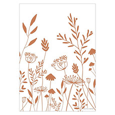 Achat Affiche & poster Poster Réversible Wild Flowers - Rust